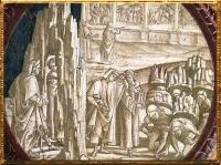 D'après Dante et Virgile, détail, Purgatoire, Luca Signorelli, fresque, San Brizio, Orvieto 1499-1502 apjc. (Marsailly/Blogostelle)
