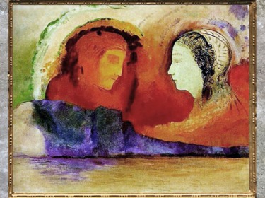 D'après Dante et Beatrice, d'Odilon Redon, 1914, huile sur toile, XXe siècle. (Marsailly/Blogostelle)