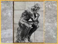 D'après Le Penseur, Dante Alighieri, d'Auguste Rodin, 1880-1902, sculpture, bronze, XIXe-XXe siècle. (Marsailly/Blogostelle)