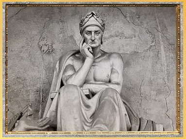 D'après Dante le poète, de Stefano Ricci, 1819-1830, marbre, Santa Croce Florence, XIXe siècle. (Marsailly/Blogostelle)