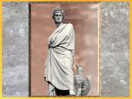 D'après Dante Alighieri, d'Enrico Pazzi, 1865, statue, place Santa Croce, Florence, XIXe siècle. (Marsailly/Blogostelle)