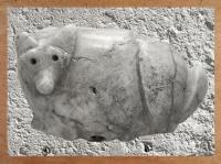 D'après un cachet zoomorphe en marbre, Tello, antique Girsu, Irak actuel, Mésopotamie. (Marsailly/Blogostelle)