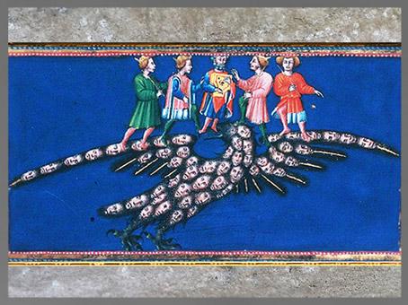 D'après l'Aigle de la Justice, le Paradis, Divine Comédie, Giovanni di Paolo, 1450, Toscane, XVe siècle, Renaissance. (Marsailly/Blogostelle)