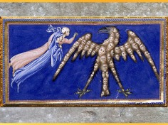 D'après Dante, Béatrice et l'Aigle de la Justice, le Paradis, Giovanni di Paolo, 1450, Divine Comédie, Toscane, XVe siècle, Renaissance. (Marsailly/Blogostelle)