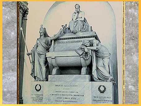 D'après le cénotaphe de Dante Alighieri, Luigi de Cambray Digny et Stefano Ricci, 1819-1830, Santa Croce, Florence, XIXe siècle. (Marsailly/Blogostelle)