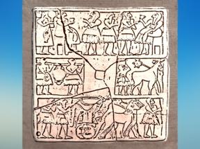 D'après le relief dit du Nouvel-An, vers-2700-avjc, Khafadjé - Ur, époque desdynasties archaïques, Sumer,Mésopotamie. (Marsailly/Blogostelle)