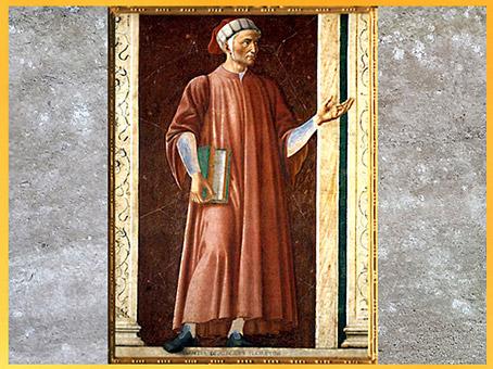 D'après Dante Alighieri, Andrea Del Castagno, 1450, les personnages illustres, Villa Carducci, XVe siècle, Renaissance. (Marsailly/Blogostelle)
