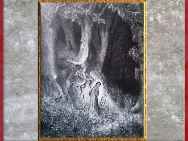 D'après Dante dans la forêt sombre, de Gustave Doré,1861, début de la Divine Comédie, XIXe siècle. (Marsailly/Blogostelle)