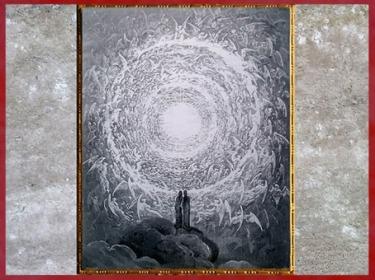 D'après Dante et Béatrice atteignant l'Empyrée, Gustave Doré, 1861, Divine Comédie, XIXe siècle. (Marsailly/Blogostelle