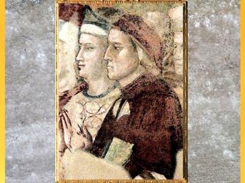 D'après Dante, fresque du Paradis, de Giotto Di Bondonne, 1335, Divine Comédie, chapelle du Bargello, Florence, XIVe siècle, fin époque Médiévale. (Marsailly/Blogostelle)