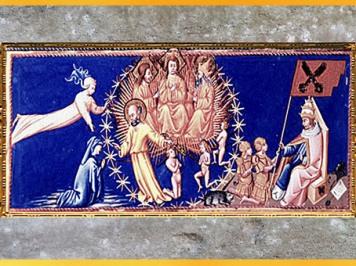 D'après Dante, Béatrice, et des saints personnages, Paradis, Divine Comédie, de Giovanni di Paolo, 1450, Toscane, XVe siècle, Renaissance. (Marsailly/Blogostelle)