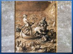 D'après Dante et Virgile dans la barque de Phlégyas, l'Enfer, de Jan van der Straet, dit Giovanni Stradano,1587, XVIe siècle. (Marsailly/Blogostelle)
