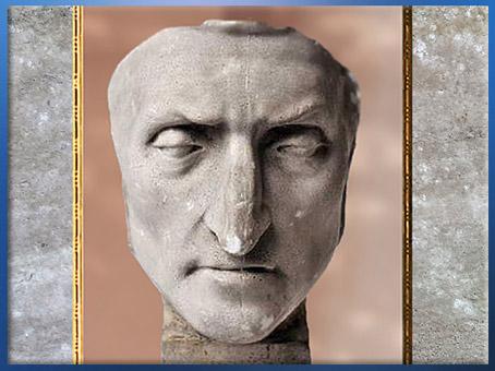 D'après un masque de Dante Alighieri, XIXe siècle, Rouen, musée Flaubert, France. (Marsailly/Blogostelle)