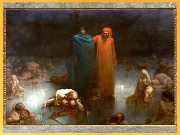 D'après Dante et Virgile dans le neuvième cercle de l'Enfer, Gustave Doré, 1861, Divine Comédie, huile sur toile, XIXe siècle. (Marsailly/Blogostelle)