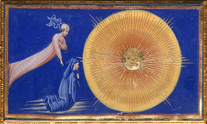 D'après Dante et Béatrice, la Vision de l'Empyrée,La Divine Comédie, Giovanni di Paolo, 1450 apjc, Toscane, Renaissance italienne. (Marsailly/Blogostelle)