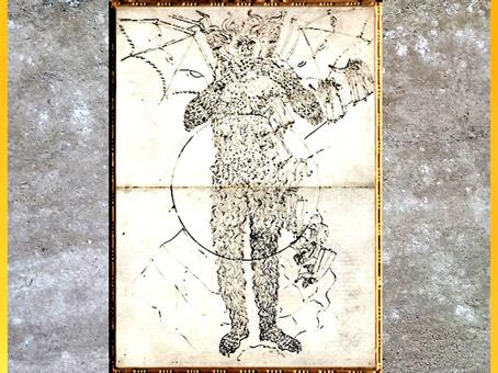 D'après Dante et Virgile le long de Lucifer, La Divine Comédie, de Sandro Botticelli, 1480-1495, fin XVe siècle, Renaissance. (Marsailly/Blogostelle)