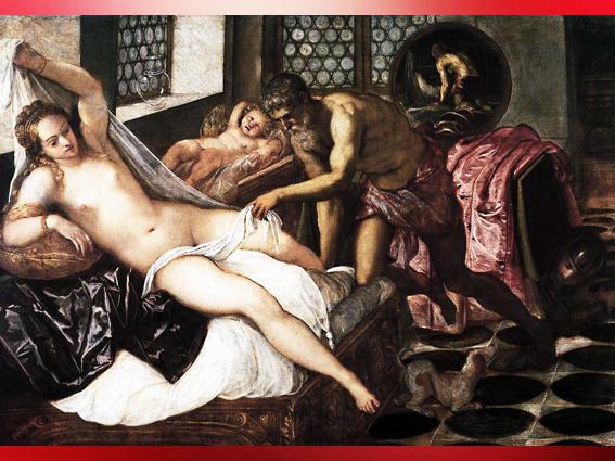 D'après Mars et Vénus piégés par Vulcain, le Tintoret, 1551 apjc, Renaissance italienne. (Marsailly/Blogostelle)