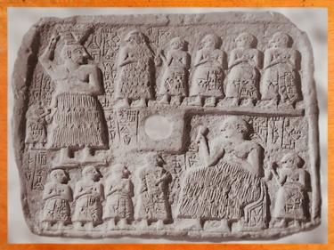 D'aprèsUr-Nanshe, roi de Lagash, bas-relief votif, banquet au registre inférieur, vers 2550-2500 avjc, époque desdynasties archaïques sumériennes, Mésopotamie. (Marsailly/Blogostelle)