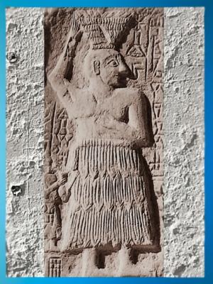D'aprèsUr-Nanshe, roi bâtisseur de Lagash, bas-relief votif, vers 2550-2500 avjc, époque desdynasties archaïques sumériennes, Mésopotamie. (Marsailly/Blogostelle)