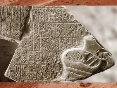 D'après l'inscription gravée sur la Stèle de la victoire du roi Eannatum de Lagash, dite Stèle des Vautours, calcaire, vers 2450 avjc, dynasties archaïques sumériennes, Irak actuel, Mésopotamie. (Marsailly/Blogostelle)