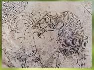 D'après un lion et capridé, vase voué à Ningirsu par Entemena, roi de Lagash, argent et cuivre, vers 2400 avjc, dynasties archaïques sumériennes,Girsu-Tello, Irak actuel, Mésopotamie. (Marsailly/Blogostelle)