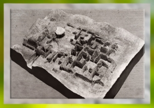 D'après une maquette de l'antiquepalais de Girsu-Tello, IIIe millénaire avjc, actuel Irak, époque des dynasties archaïques sumériennes, Mésopotamie. (Marsailly/Blogostelle)