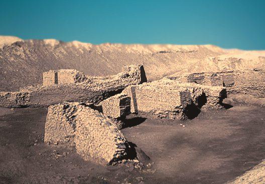D'après les vestiges de l'antique Girsu, site de Tello, IIIe millénaire avjc, actuel Irak, époque des dynasties archaïques sumériennes, Mésopotamie. (Marsailly/Blogostelle)