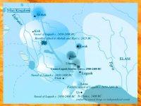 D'après une carte de la Mésopotamie, Lagash. (Marsailly/Blogostelle)