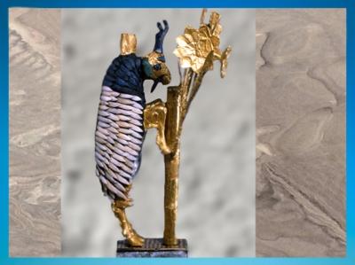 D'après le Grand Bouquetin d'Ur, tombes royales d'Ur, vers 2600-2500 avjc,période des dynasties archaïques sumériennes,Ur, actuel Irak, Mésopotamie. (Marsailly/Blogostelle)