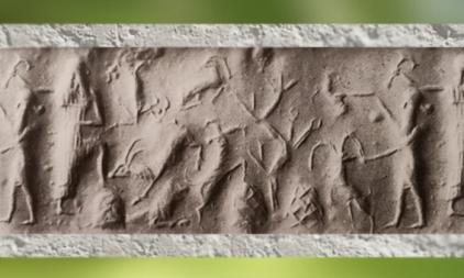 D'après une scène champêtre et bosquet, période de l'empire d'Agadé, fin du IIIe millénaire avjc, Mésopotamie (Marsailly/Blogostelle)