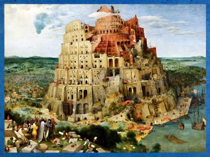D'après la Tour de Babel peinte par Pierre Brueghel l'Ancien, 1563 apjc, Renaissance. (Marsailly/Blogostelle)