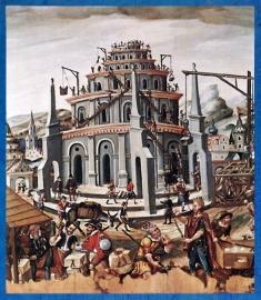 D'après la Tour de Babel, maître allemand inconnu, XVIe siècle apjc, Nuremberg, Renaissance. (Marsailly/Blogostelle)
