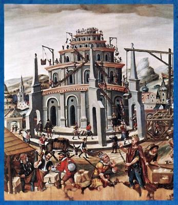 D'après la Tour de Babel, maître allemand inconnu, XVIe siècle apjc, Nuremberg, Allemagne, Renaissance. (Marsailly/Blogostelle)