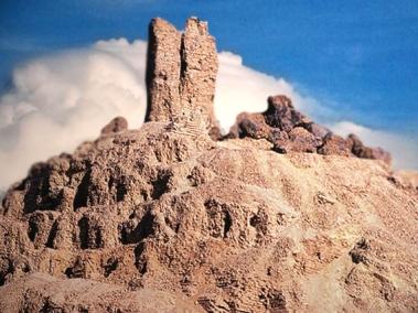 D'après la ziggurat de Nimrud, antique Borsippa, vers 2112-2004 avjc,époque de la IIIe dynastie d'Ur, Irak actuel, Mésopotamie. (Marsailly/Blogostelle)