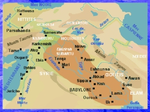 D'après une carte de la Mésopotamie, Babylone. (Marsailly/Blogostelle)