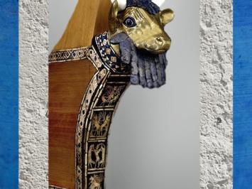 D'après une lyre-taureau, bois, en haut l'Aigle de Ningirsu, Imdugud, tombes d'Ur, vers 2500 avjc, période des dynasties archaïques sumériennes, Ur, Irak actuel, Mésopotamie. (Marsailly/Blogostelle)