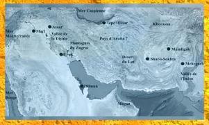 D'après une carte, de Mari en Mésopotamie à la Vallée de l'Indus. (Marsailly/Blogostelle)