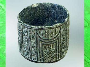 D'après un vase en pierre, chlorite, style élamite-iranien, Khafadjé, vers 2600 avjc, Mésopotamie. (Marsailly/Blogostelle)