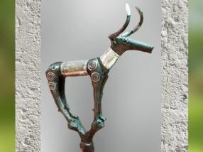 D'après un étendard taureau tombes royales d'Alaça Hûyûk, vers 2350 avjc, Anatolie, actuelle Turquie, Orient ancien. (Marsailly/Blogostelle)