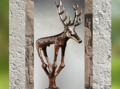 D'après un étendard-cerf, tombes d'Alaça Hûyûk, bronze, vers 2200-2000 avjc, Anatolie, Turquie. (Marsailly/Blogostelle)