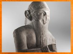 D'après Ishqi-Mari, roi de Mari, détail, temple d'Ishtar, vers 2500-2300 avjc, Mari, Tell Hariri, actuelle Syrie. (Marsailly/Blogostelle)