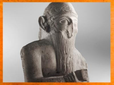 D'après Ishqi-Mari, roi de Mari, détail, temple d'Ishtar (déesse de l'amour, de la fertilité et de la beauté),Mari, vers 2500-2300 avjc, Tell Hariri, actuelle Syrie, Orient ancien. (Marsailly/Blogostelle)