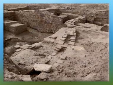D'après les vestiges de Mari, canalisations, IIIe millénaire avjc, Tell Hariri, actuelle Syrie, Orient ancien. (Marsailly/Blogostelle)