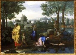 D'après Moise Exposé sur les Eaux, Nicolas Poussin, 1654 apjc. (Marsailly/Blogostelle)