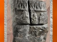 D'après la stèle de Victoire de Sargon, diorite, vers 2300 avjc, époque d'Agadée, butin de Suse. (Marsailly/Blogostelle)