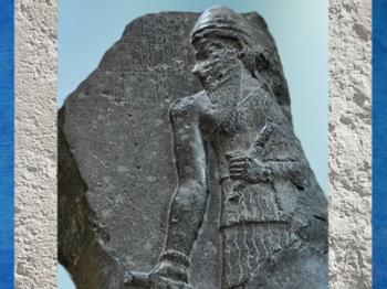 D'après une stèle de Narâm-Sîn en Monarque Universel, vers 2230 avjc, époque d'Agadé, provient de Pir Hüseyin, actuelle Turquie, Orient ancien. (Marsailly/Blogostelle)