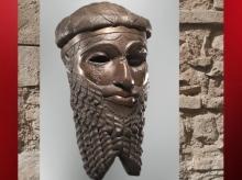 D'après un portrait royal, copie en bronze d'un original, possible Narâm-Sîn, vers 2340 avjc - 2200 avjc, époque d'Agadé, Mésopotamie. (Marsailly/Blogostelle)