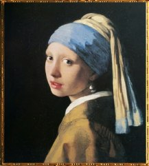 D'après La Jeune Fille à la Perle, Johannes Vermeer, 1665-1666, IVMeer. (Marsailly/Blogostelle)