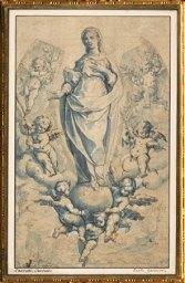 D'après La Vierge sur le Globe, Bernardo Castello, 1557-1629, école piémontaise et génoise. (Marsailly/Blogostelle)