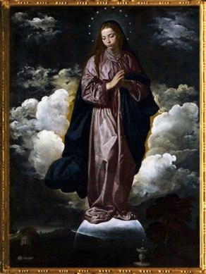 D'après L'Immaculée Conception, Velasquez, 1618, XVIIe siècle. (Marsailly/Blogostelle)
